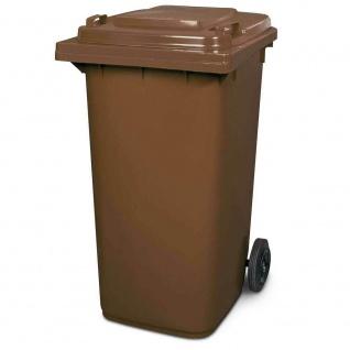 Mülltonne, Inhalt 240 Liter, HxBxT 1075 x 580 x 730 mm, Farbe braun