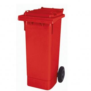 Mülltonne nach EN 840 und RAL-GZ 951/1, 80 Liter, rot, BxTxH 445 x 520 x 930 mm