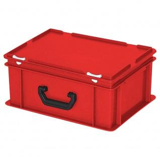Kunststoffkoffer / Eurokoffer mit 1 Tragegriff, LxBxH 400 x 300 x 180 mm, rot - Vorschau
