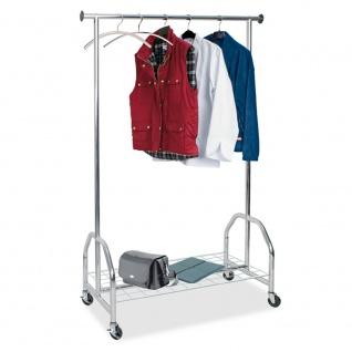 Kleiderständer / Fahrbare Garderobe, BxTxH 1210x520x1850 mm, Tragkraft 100 kg