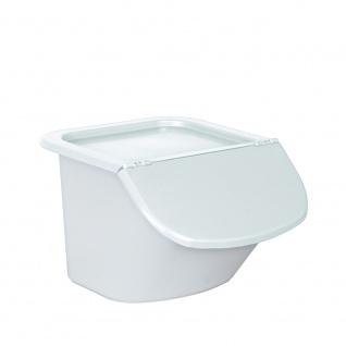 Zutatenspender, Inhalt 15 Liter, LxBxH 440 x 400 x 280 mm, Behälter weiß, Deckel weiß
