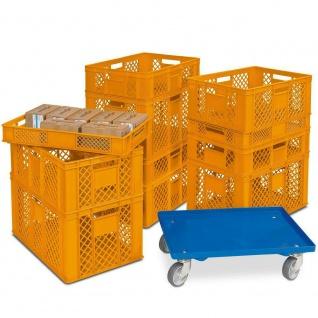 Set mit 11 Euro-Stapelkästen / Bäckerkisten in 4 Größen, Grundmaß 600x400 mm