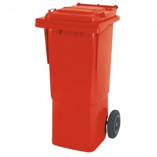 Mülltonne, Inhalt 60 Liter, rot, BxTxH 445x520x930 mm, hohe Ausführung