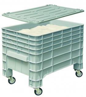 Mehlbox mit Deckel und 4 Rollen, 1030x630x670 mm, 276 l, Boden/Wände geschlossen
