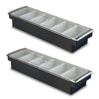 2 Zutatenbehälter mit 6 Einsätzen je 0, 5 Liter, BxTxH 500 x 155 x 95 mm