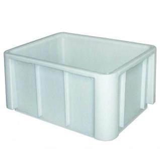 Lebensmittelbehälter, LxBxH 800x600x420 mm, verrippter Boden, geschlossen