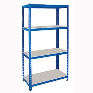Schwerlastregal, 1800 x 900 x 500 mm, blau, Tragkraft/Ebene 265 kg