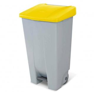 Abfalleimer mit Rollen, 120 Liter, HxBxT 880 x 510 x 430 mm, grau/gelb
