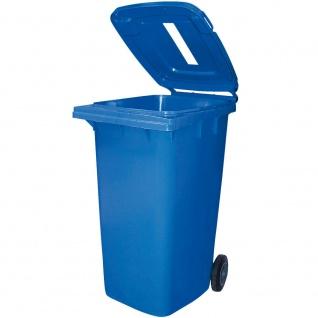 240 Liter Mülltonne mit Einwurfschlitz, BxTxH 580 x 740 x 1070 mm, blau