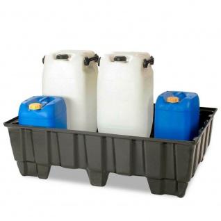 Auffangwanne, Kunststoff, LxBxH 1230x830x400 mm, 235 Liter + GRATIS Ölwechselset