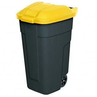 Wertstoffsammler, 100 Liter, Korpus anthrazit, Deckel gelb, HxBxT 850x510x550 mm