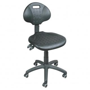 Arbeitsdrehstuhl mit Rollen, Sitz- und Rückenlehne aus Polyurethanschaum