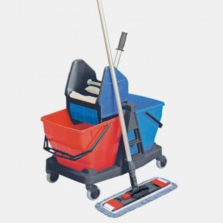 Reinigungswagen Putzwagen Wischset Doppelfahrwagen Moppresse 56769 - Vorschau