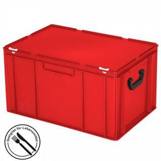 Kunststoffkoffer / Gerätekoffer, Euro-Format LxBxH 600 x 400 x 330 mm, 63 Liter, rot, Industriequalität