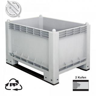 Volumenbox / Großbox mit Kufen, LxBxH 1000 x 700 x 650 mm, Inhalt 300 Liter