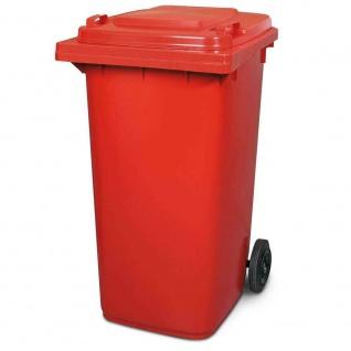 Mülltonne, Inhalt 240 Liter, HxBxT 1075 x 580 x 730 mm, Farbe rot