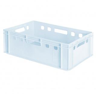 Fleischkasten / Eurobehälter E2, 600 x 400 x 200 mm, weiß, lebensmittelecht