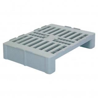Hygienepalette H2, 2 Kufen/Sicherungsrand, LxBxH 800x600x160 mm, durchbrochen