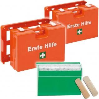 2x Erste-Hilfekoffer nach DIN 13157/UVV + GRATIS Pflasterspender m 100 Pflastern