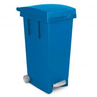 Tretabfallbehälter mit Rollen, Inhalt 80 Liter, BxTxH 370 x 510 x 790 mm, blau