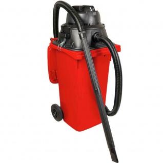 Nass- / Trockensauger / Industriesauger 1100 Watt, mit 120 Liter DIN Tonne rot