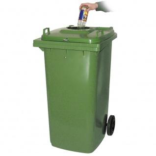 240 Liter Müllbehälter inkl. Flascheneinwurf, BxTxH 580 x 730 x 1075 mm, grün