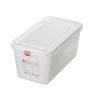 GN-Vorratsdose/Frischhaltebox mit Deckel, GN1/3, LxBxH 325 x 176 x 150 mm, Inhalt 6 Liter