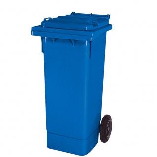 Mülltonne nach EN 840 und RAL-GZ 951/1, 80 Liter, blau, BxTxH 445 x 520 x 930 mm