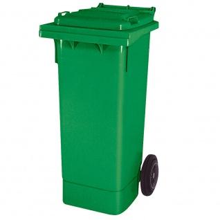 Mülltonne nach EN 840 und RAL-GZ 951/1, 80 Liter, grün, BxTxH 445 x 520 x 930 mm