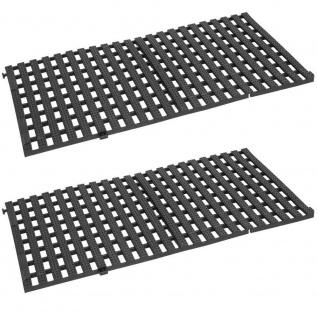 2 Bodenroste aus Polyurethan-Kunststoff, Farbe schwarz, LxBxH 1150 x 580 x 30 mm