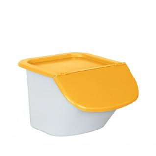 Vorratsbehälter / Zutatenspender, 15 Liter, LxBxH 440 x 400 x 280 mm, Behälter weiß, Deckel orange
