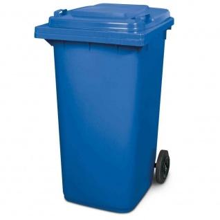 Mülltonne, Inhalt 240 Liter, HxBxT 1075 x 580 x 730 mm, Farbe blau