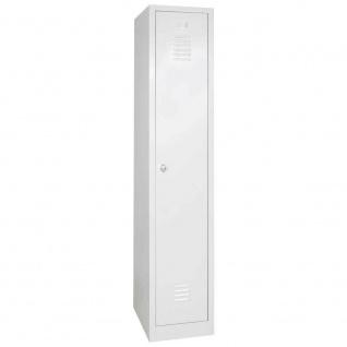 Kleiderspind mit Drehriegelverschluss, 1 Abteil, BxTxH 300x500x1800 mm, graue Tür
