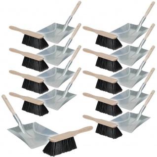 10x Handfeger und Kehrschaufel-Set, Handfeger L 280 mm, Schaufel LxB 430x250 mm
