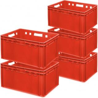 5x Fleischkasten / Eurobehälter E3, 600 x 4000 x 300 mm, lebensmittelecht, rot