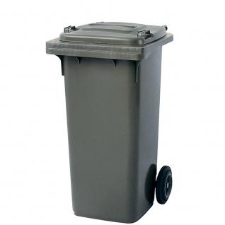 Mülltonne, Inhalt 120 Liter, HxBxT 930 x 480 x 550 mm, Farbe grau