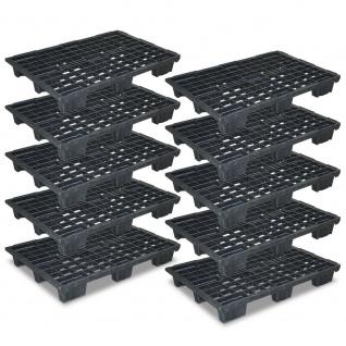 10 Leichtpaletten im Euromaß, LxBxH 1200x800x153 mm, durchbrochen, 100% PE/RE