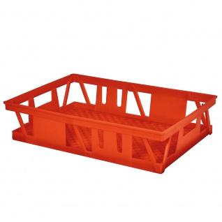 Transportbehälter für Backbleche, durchbrochen, LxBxH 660 x 460 x 160 mm, rot