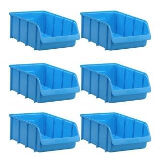 6 Sichtstapelboxen SL 5, blau, Inhalt 24 Liter, LxBxH 495/425 x 310 x 185 mm