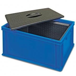 Eurobehälter mit EPP-Isolierbox mit Deckel, 34 Liter, LxBxH 600x400x320 mm, blau