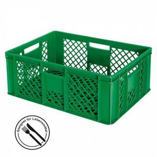 Stapelkorb / Bäckerkiste LxBxH 600 x 400 x 240 mm, 43 Liter, grün