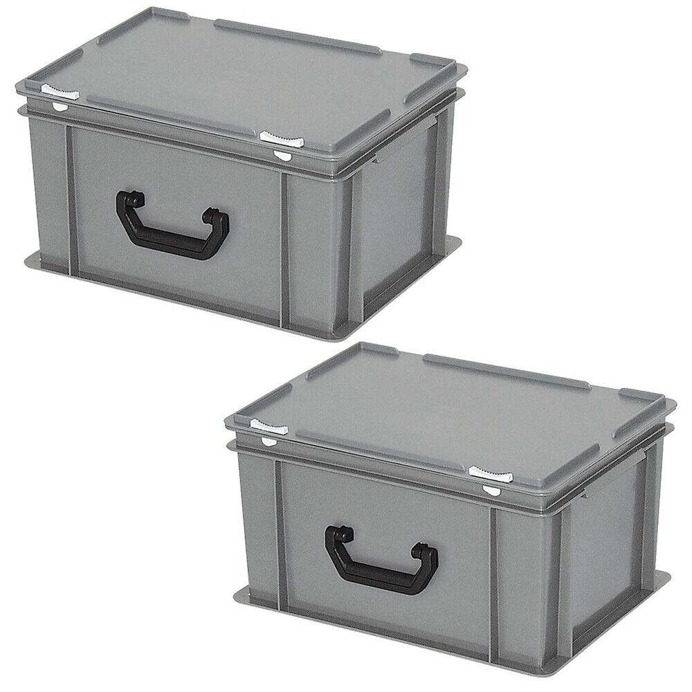 PE-HD 21 Liter LxBxH 400x300x230 mm rot Aufbewahrungskoffer//Kunststoffkoffer