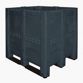 Volumenbox mit 3 Kufen, 1400 l, 1300x1150x1250 mm, Wände/Boden geschl. (55439)