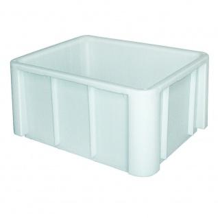 Lebensmittelbehälter mit glattem Boden, 140 Liter, LxBxH 800x600x405 mm, weiß