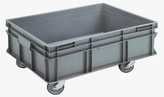 Stapelbehälter Volumenboxen Griffleiste Rollbehälter Kunststoffbehälter 55830
