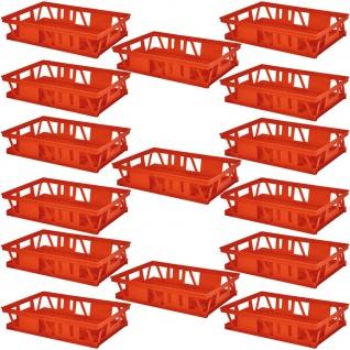 15 Kuchenblechkasten, LxBxH 660x460x160 mm, Wände/Boden durchbrochen, rot