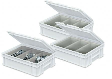 3 Besteckkoffer / Sortierbehälter, LxBxH 400 x 300 x 130 mm, Farbe weiß