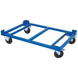 Rollrahmen für Paletten, Gitterboxen, Behälter, LxBxH 1220 x 820 x 330 mm, Tragkraft 1000 kg