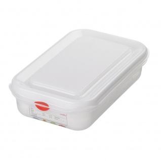 GN-Vorratsdose/Frischhaltebox mit Deckel, GN1/4, LxBxH 265 x 162 x 65 mm, Inhalt 1, 8 Liter