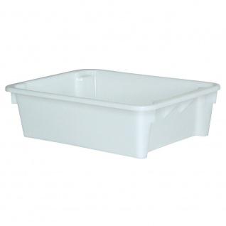 Drehstapelbehälter, 80 Liter, LxBxH 800 x 600 x 220 mm, weiß, lebensmittelecht